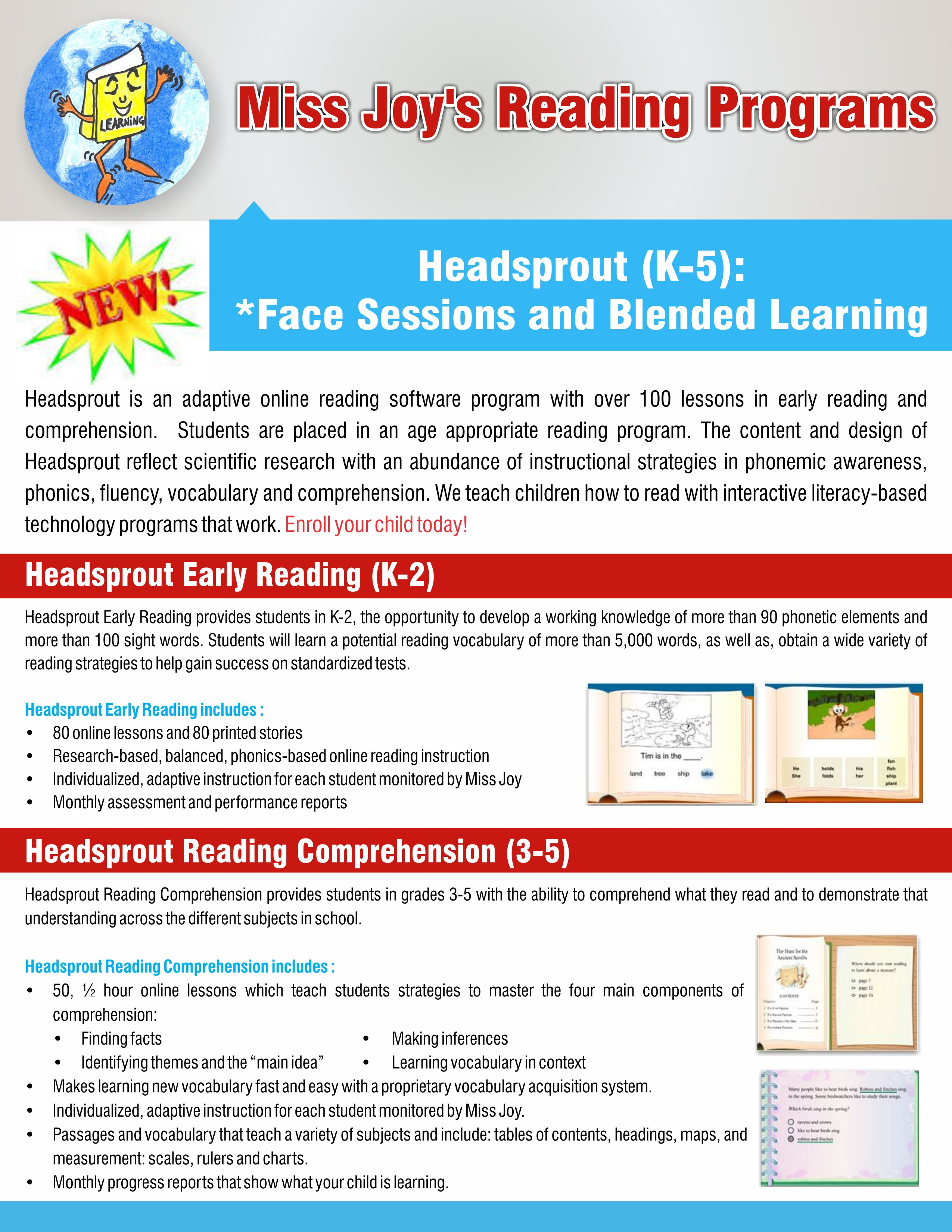 Worksheet Reading Comprehension Program english literacy learning services individuals original headsprout early reading k 2 uses patented technology that allows adaptive online instruction the program provides hun